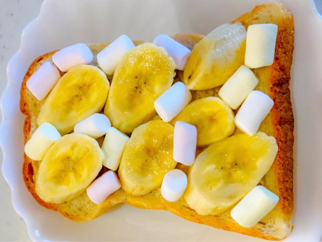 マシュマロバナナトースト作り方
