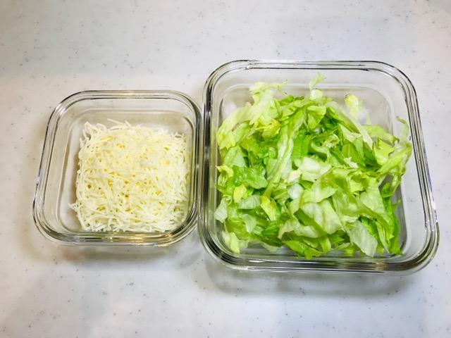 レタスとチーズ