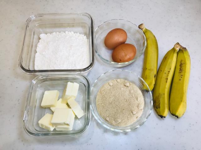 バナナのパウンドケーキの材料