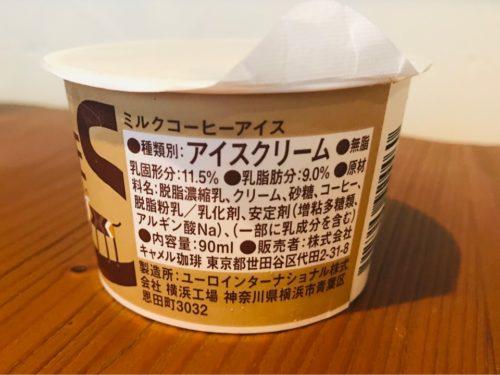 コーヒーアイスの原材料