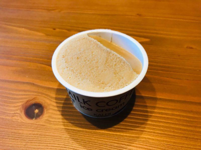 ミルクコーヒーアイスの中身