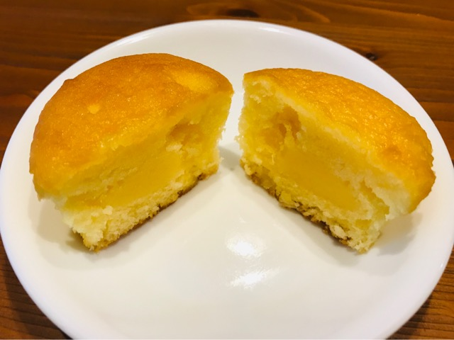 レモンケーキ切ってみると