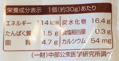 焼きドーナツカロリー表