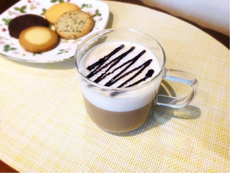 こんせん72牛乳を使ったカフェラテ