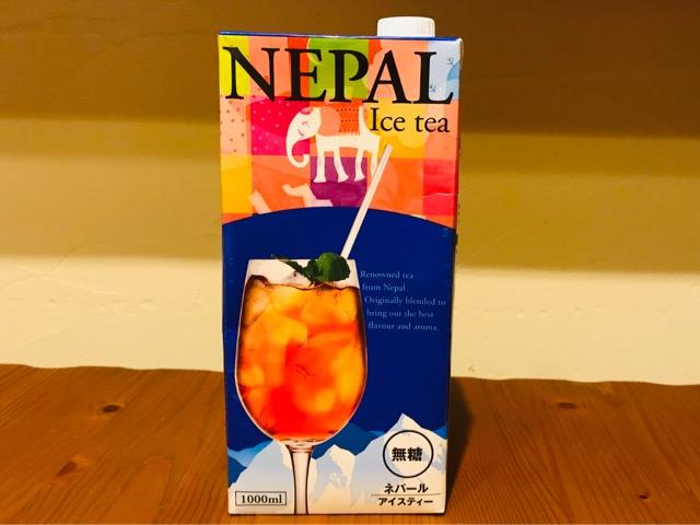 ネパールアイスティー無糖のパッケージ