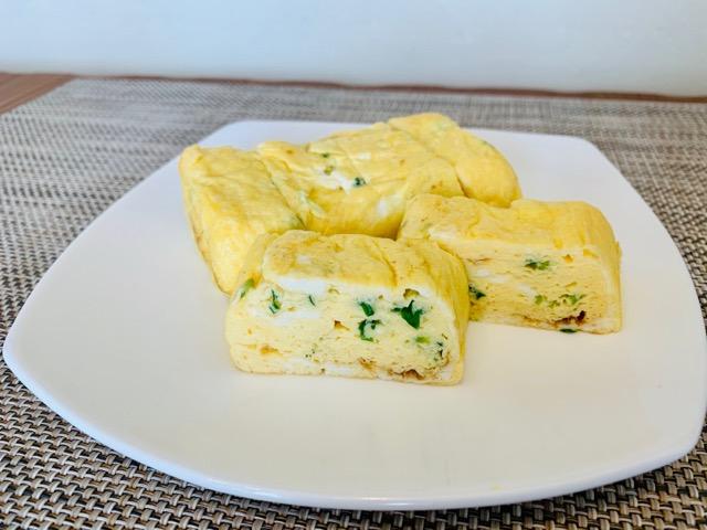青ネギの卵焼き