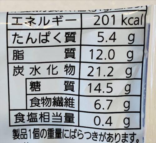 パスコ 低糖質ワッフルブランのカロリーと糖質量