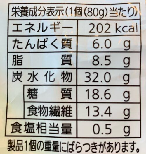 Pascoパスコ 低糖質クリームパン カロリー