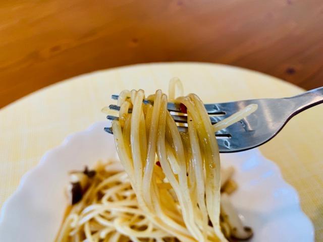 【和ペペロンチーノソースきのこ風味】を食べる画像