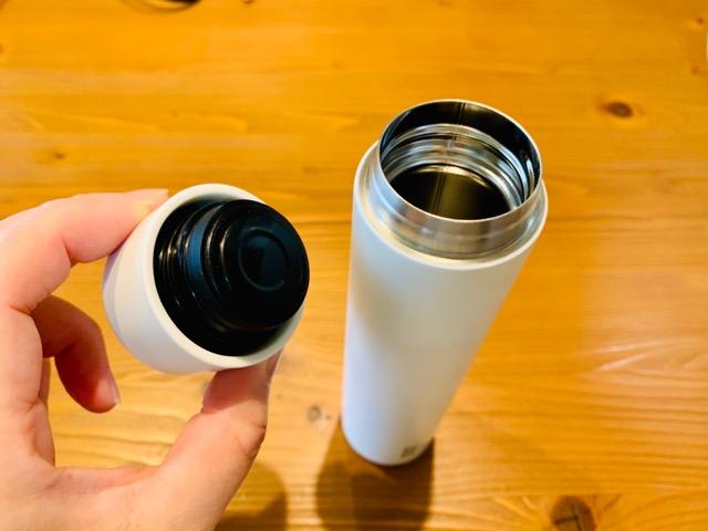 ミニ水筒のふたと本体
