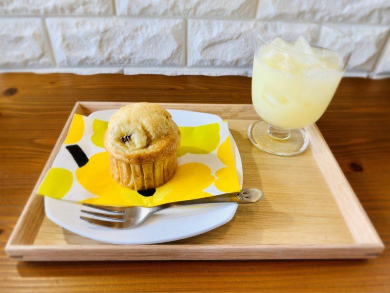 バターなし牛乳なし きのこ型 バナナマフィン