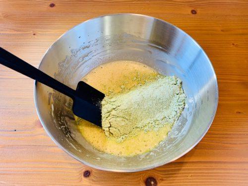 抹茶ホワイトチョコマフィンの作り方3