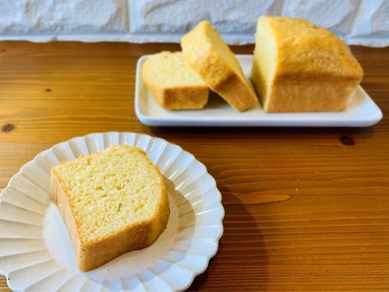 バター牛乳なし プレーンパウンドケーキ