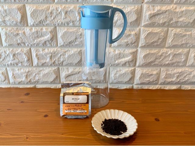 水出し紅茶(アイスティー)の材料