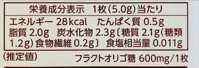 明治【オリゴスマート ミルクチョコレート】カロリー