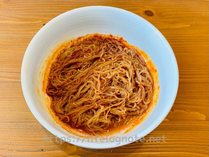 カルディ購入品 ふるる冷麺 辛口ビビン冷麺 作り方