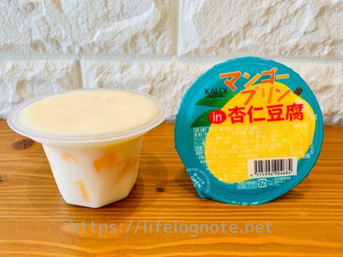 カルディ マンゴープリンin杏仁豆腐