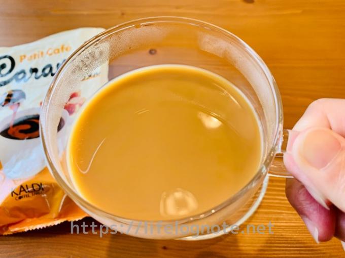 カルディコーヒーファーム プチ・カフェ キャラメル 口コミ
