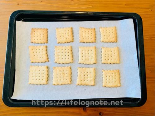 バター・牛乳・卵なしの型抜きプレーンクッキーの簡単レシピ